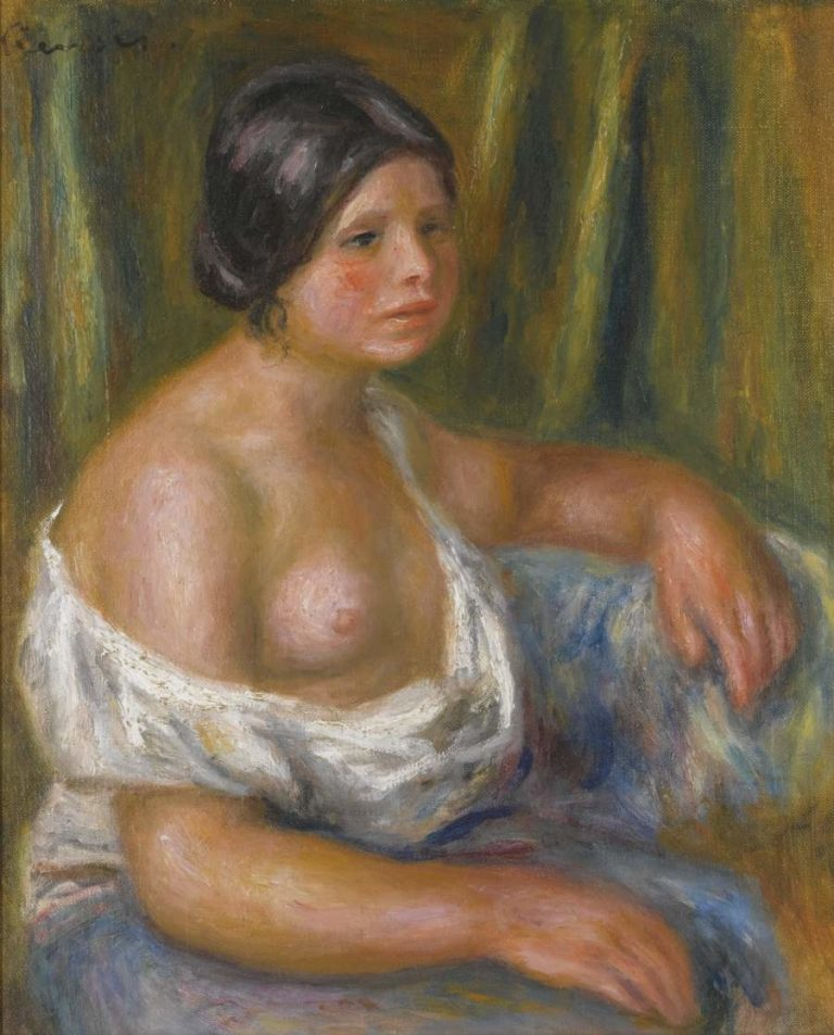 Woman in Blue | Pierre Auguste Renoir | oil painting