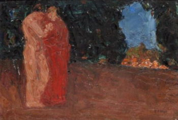 The lovers | Emmanuel Zairis | oil painting