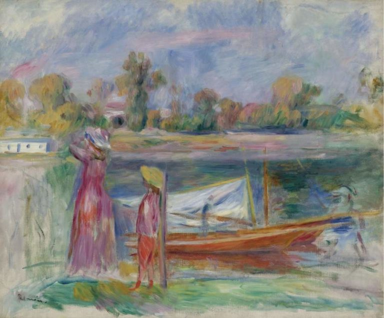 Young Girls at Argenteuil 1896 | Pierre Auguste Renoir | oil painting
