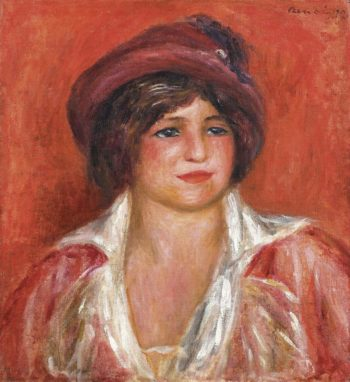 Young Woman in Hat 1912 | Pierre Auguste Renoir | oil painting
