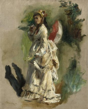 Young Woman with a Parasol 1868 | Pierre Auguste Renoir | oil painting
