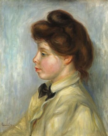 Young Woman with Black Tie 1897 98 | Pierre Auguste Renoir | oil painting