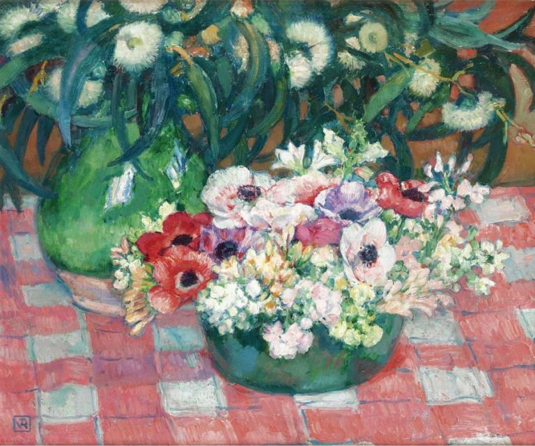 Anemones and Eucalyptus | Theo van Rysselberghe | oil painting