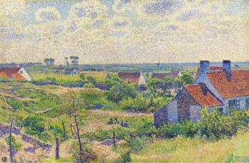Landscape with Houses 1894 | Theo van Rysselberghe | oil painting