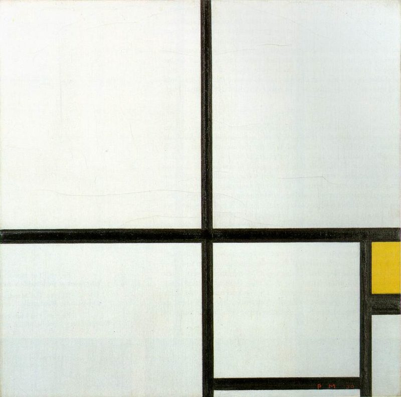 Composition with yellow patch | Piet Mondrian | oil painting