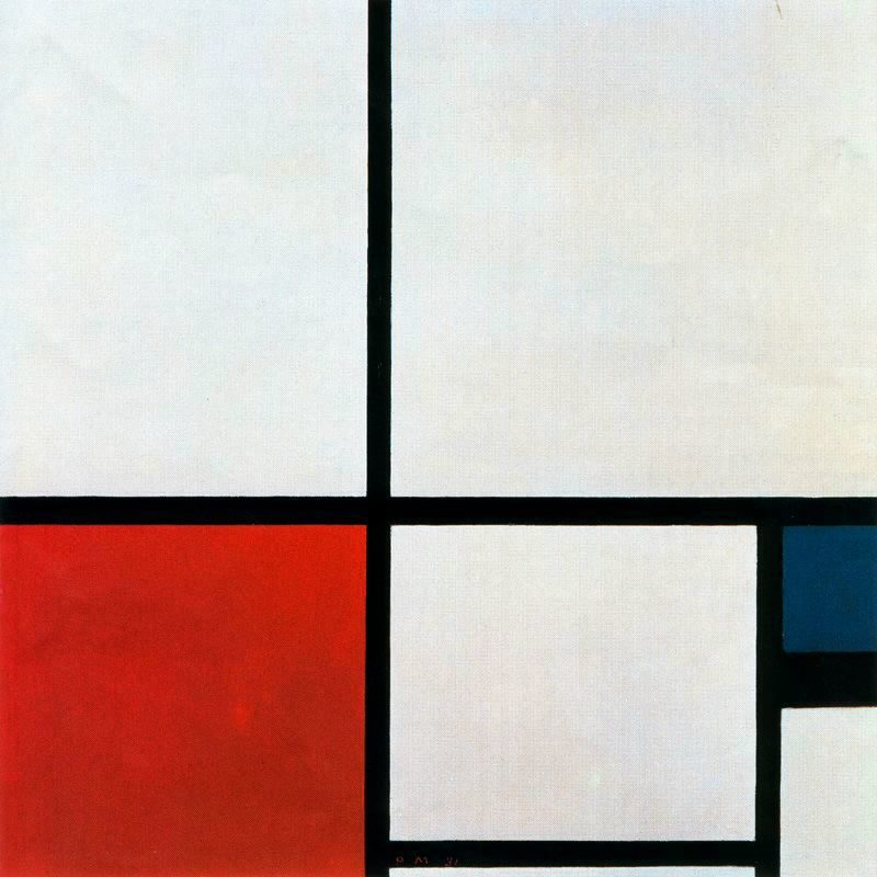 Composition N. 1 with Red and Blue | Piet Mondrian | oil painting