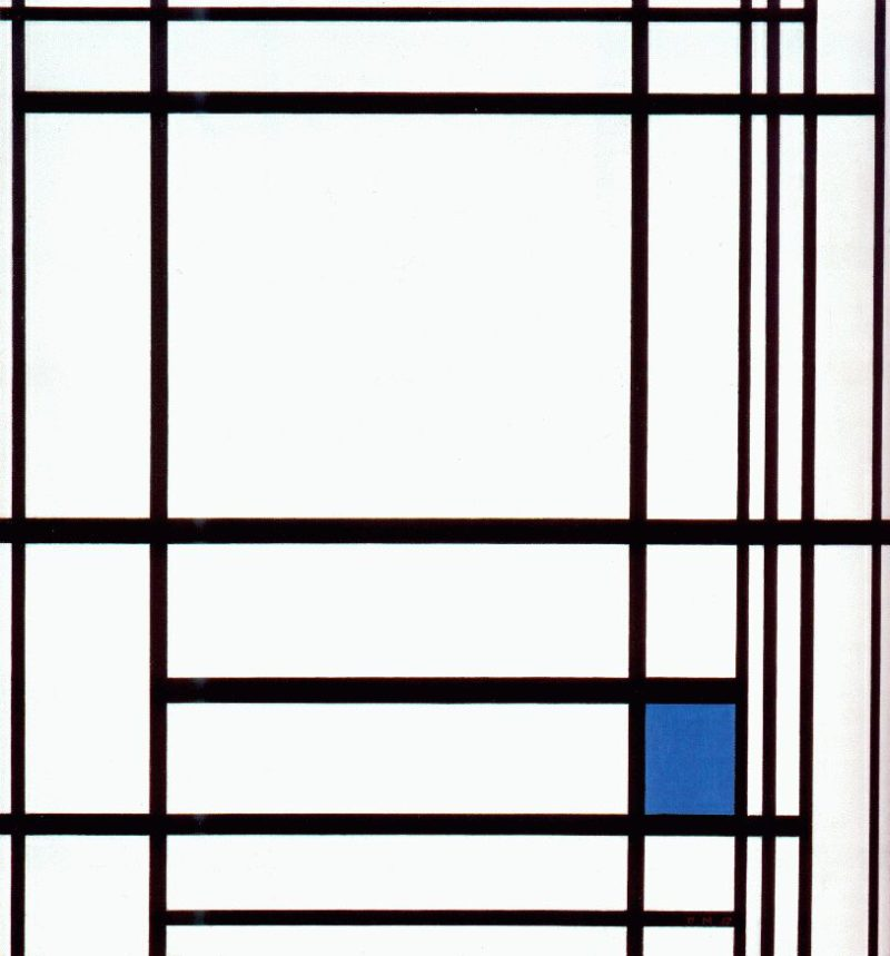 Composition with Blue | Piet Mondrian | oil painting