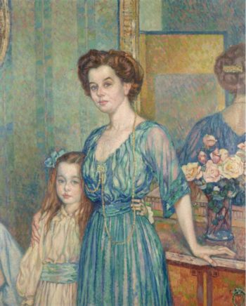 Mme Bodenhausen with a Child 1910 | Theo van Rysselberghe | oil painting