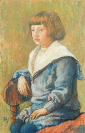 Portrait of a Child 1899 | Theo van Rysselberghe | oil painting