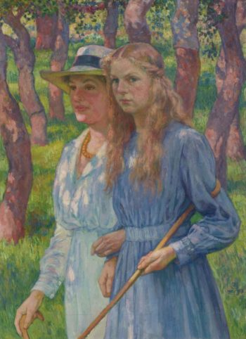Portrait of Madame Schlumberger and Her Daughter 1918 | Theo van Rysselberghe | oil painting