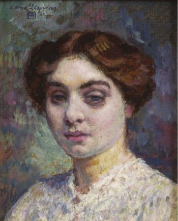 Portrait of Madamoiselle Couvreur 1907 | Theo van Rysselberghe | oil painting