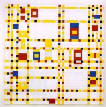 Broadway Boogie Woogie | Piet Mondrian | oil painting