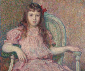 Portrait of Sylvie Lacomb 1906 | Theo van Rysselberghe | oil painting