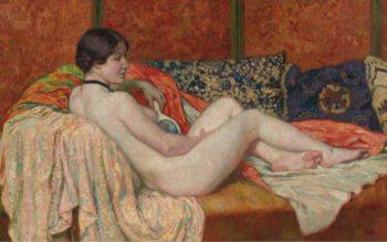 Resting Nude 1914   Theo van Rysselberghe   oil painting