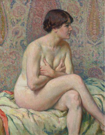 Seated Nude 1916   Theo Van Rysselberghe   oil painting