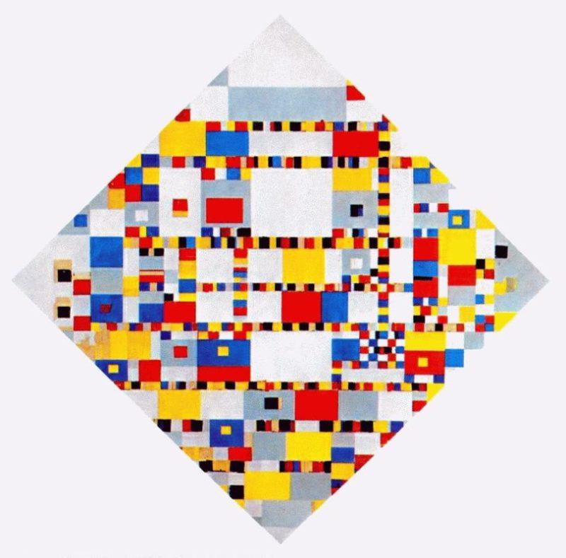 Victory Boogie Woogie | Piet Mondrian | oil painting
