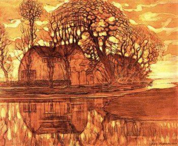 Farm at Duivendrecht | Piet Mondrian | oil painting