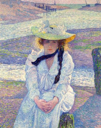 Young Woman on the Sand Shore 1901 | Theo van Rysselberghe | oil painting