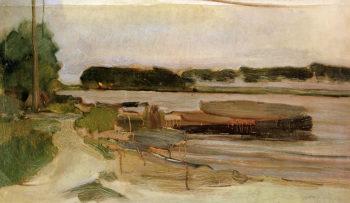 At the Amstel Sun | Piet Mondrian | oil painting