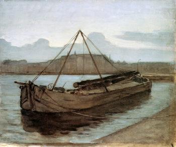 Evening at Weesperzijde Sun | Piet Mondrian | oil painting
