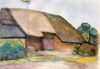 Farm Sun | Piet Mondrian | oil painting