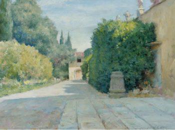 Villa in Florence 1909   William Merritt Chase   oil painting