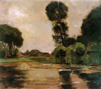 Lonely tree at the Gein Sun | Piet Mondrian | oil painting