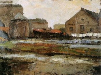 Schinkelbuurtje Sun | Piet Mondrian | oil painting