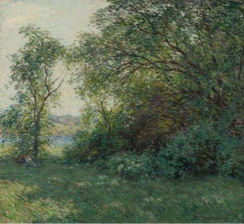 The Bower 1907   Willard Leroy Metcalf   oil painting