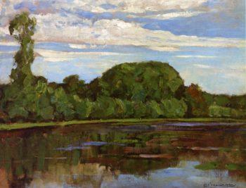 Geinrust Farm with Isolated Tree | Piet Mondrian | oil painting
