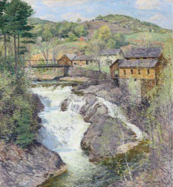 The Falls 1909 10 | Willard Leroy Metcalf | oil painting