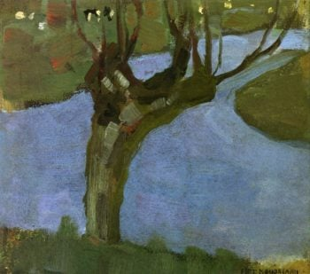 Irrigation Ditch with Mature Willow | Piet Mondrian | oil painting