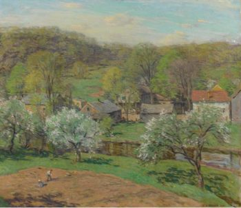 The Village in Late Spring 1920 | Willard Leroy Metcalf | oil painting