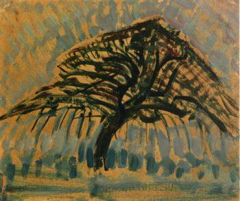Study for Blue Apple Tree Series | Piet Mondrian | oil painting