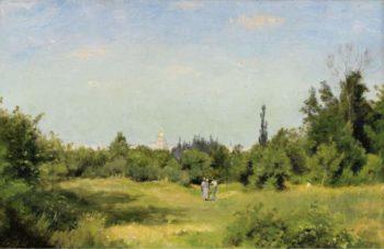 La Plaine dIssy les Moulineaux 1877 80 | Stanislas Lepine | oil painting