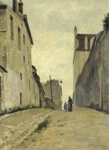 Montmartre la Rue du Mont Cenis 1868 72 | Stanislas Lepine | oil painting