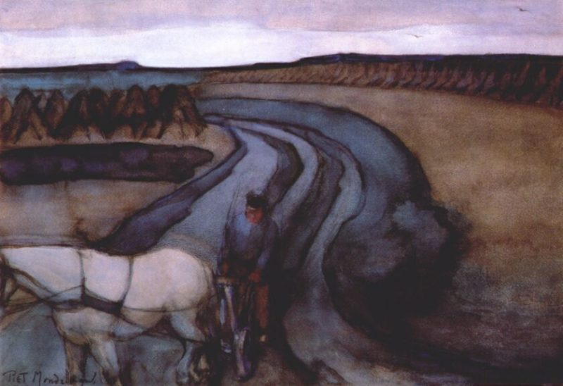 At Work / On the Land | Piet Mondrian | oil painting