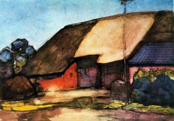 Small farm on Nistelrode | Piet Mondrian | oil painting