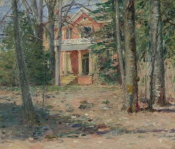 House in Virginia (Castle Hill) 1893 | Theodore Robinson | oil painting