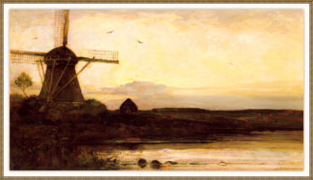 Mill in the evening | Piet Mondrian | oil painting