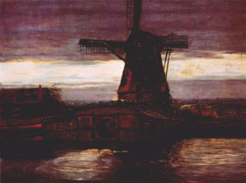 Stammer Mill with Streaked Sky | Piet Mondrian | oil painting