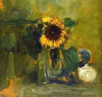 Nature died with Sunflower | Piet Mondrian | oil painting