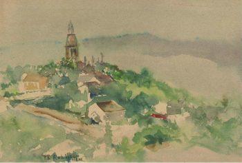 Village Scene 1892 | Theodore Robinson | oil painting