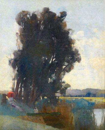 On the Banks of the River at Heidelberg | Tom Roberts | oil painting