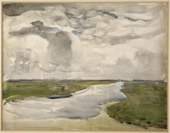 Meandering Landscape with River | Piet Mondrian | oil painting