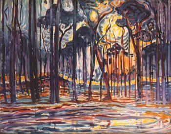 Woods near Oele | Piet Mondrian | oil painting