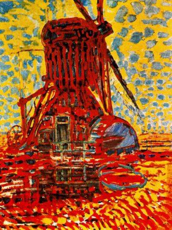 Mill in Sunlight: The Winkel Mill | Piet Mondrian | oil painting