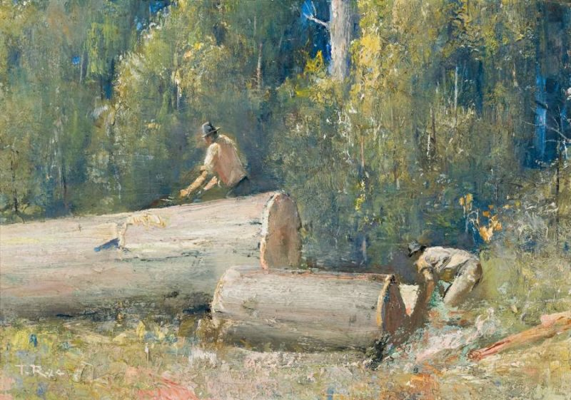 The Wood Splitters 1924 | Tom Roberts | oil painting