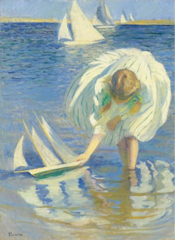 Child with Boat 1899 | Edmund Charles Tarbell | oil painting