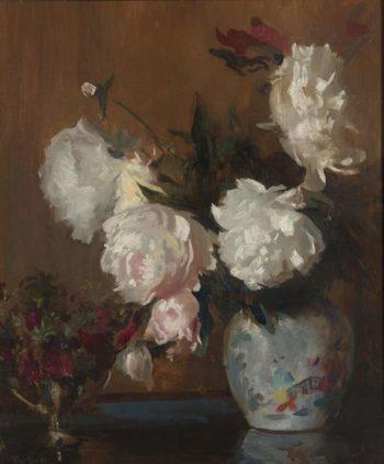 Peonies | Edmund Charles Tarbell | oil painting